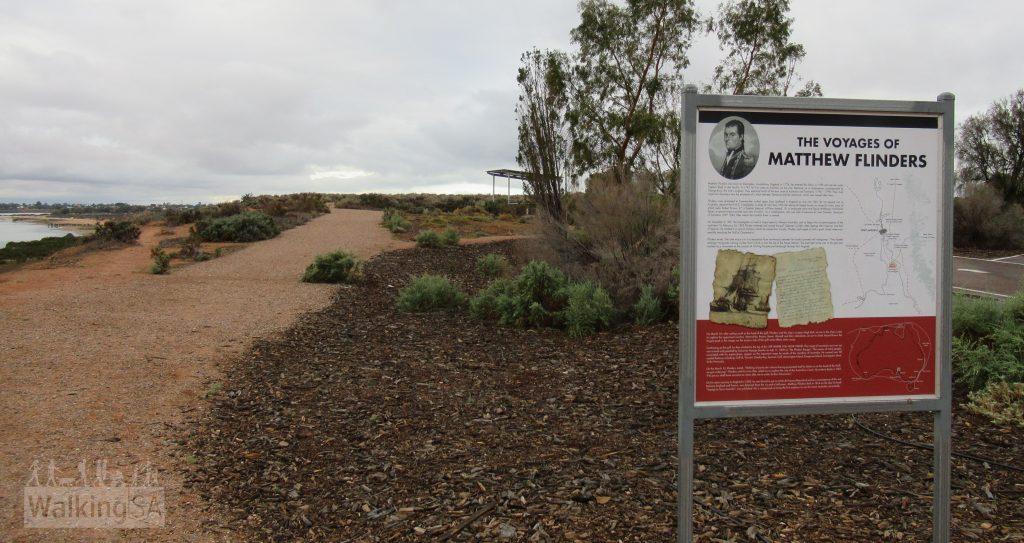 An interpretive sign at Red Cliffs lookout