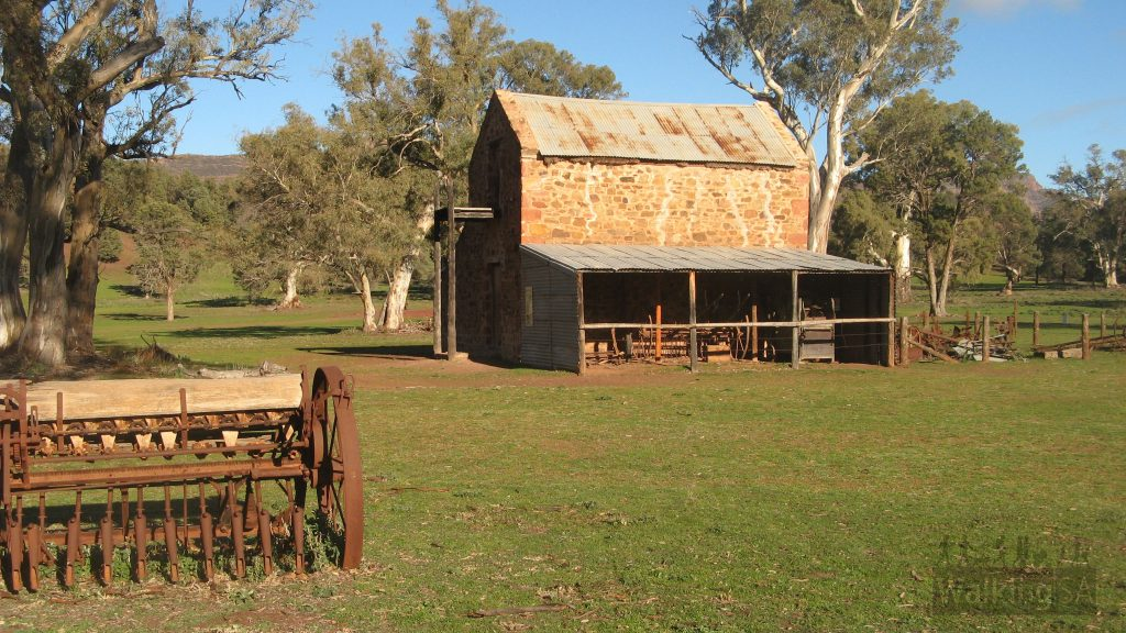 An old farm shed on the Old Wilpena Station