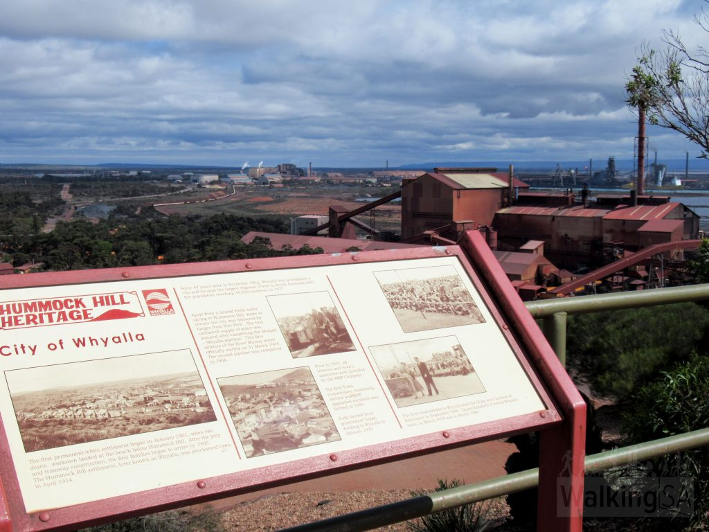 From the top of Hummock Hill there are views over the city and industrial area