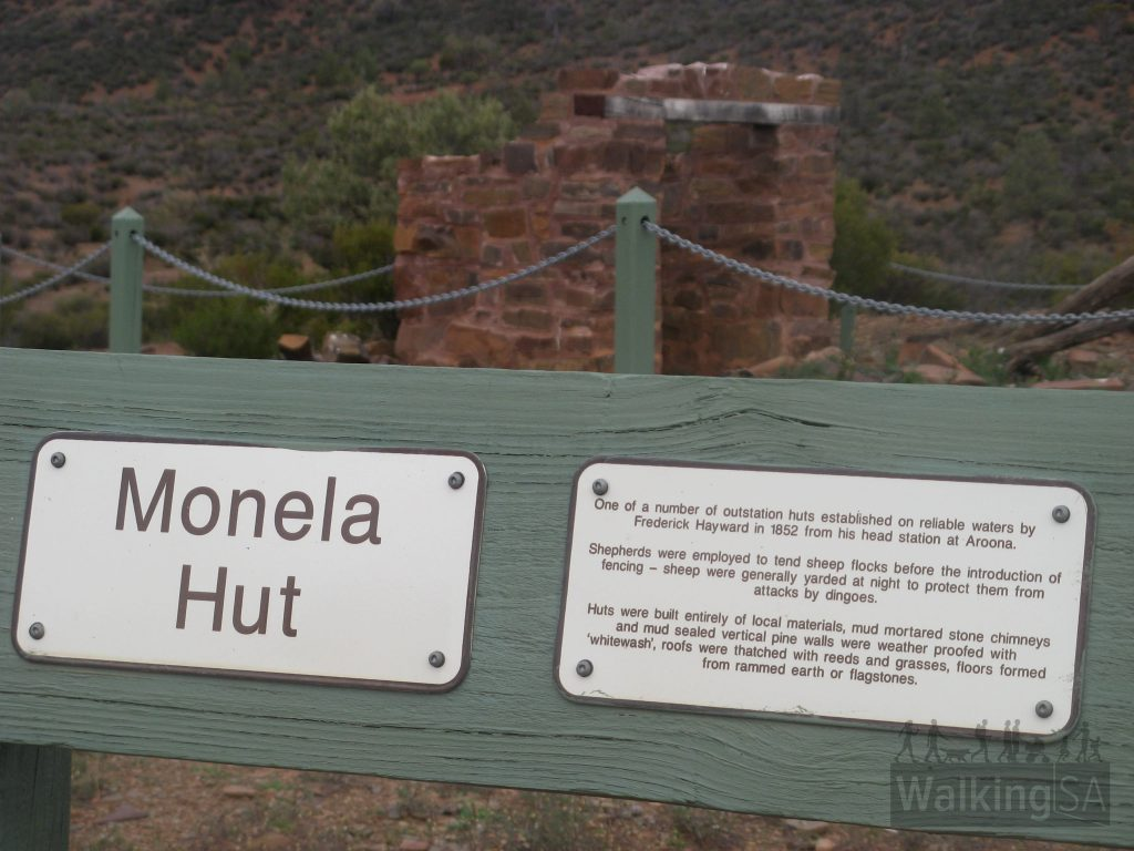 Monela Hut was one of a number of outstations on the 1850 Aroona Run