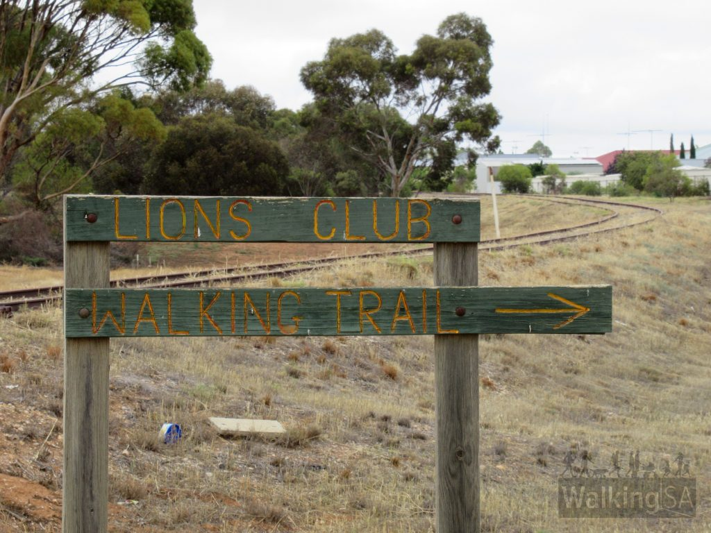 Signs for the Lions Walking Trail at Balaklava