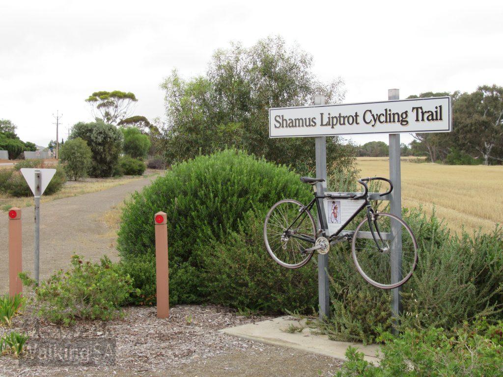 The shared-use Shamus Liptrot Cycling Trail goes from Balaklava to Halbury and honours elite junior local cyclist Shamus Liptrot