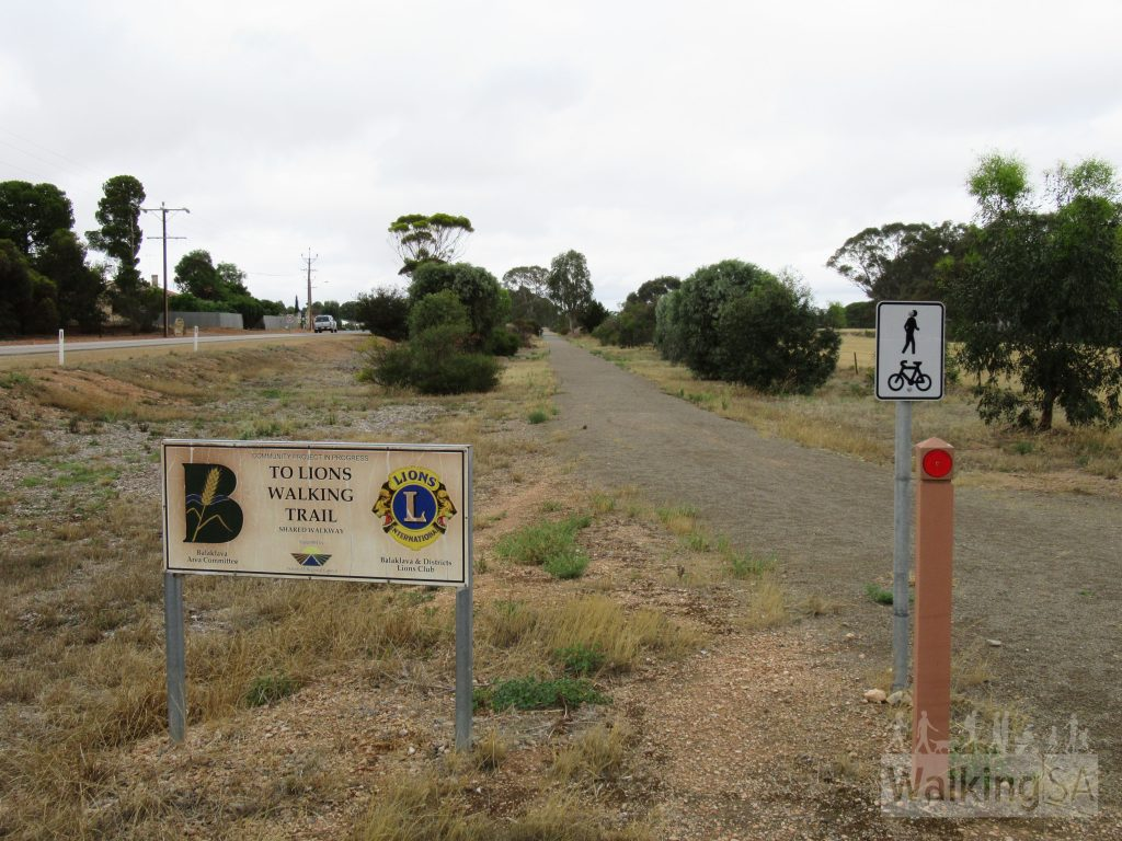 The shared-use Shamus Liptrot Cycling Trail goes from Halbury to Balaklava, connecting to the Lions Walking Trail in Balaklava