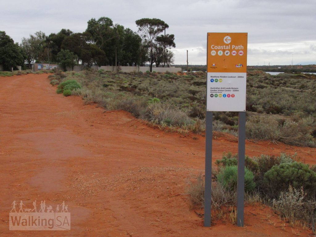 The Coastal Path near Shoreline Caravan Park, the northern section here follow a network of sandier trails