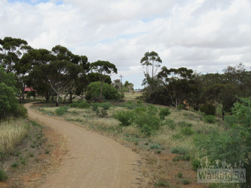 The Crystal Brook Township Walking Trail is a shared trail for walkers, cyclists, prams and wheelchair users