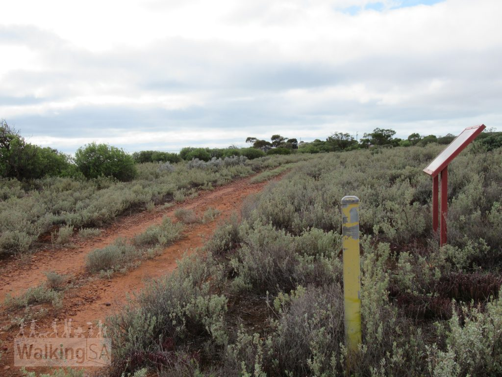 The Freycinet Trail is marked with these yellow posts
