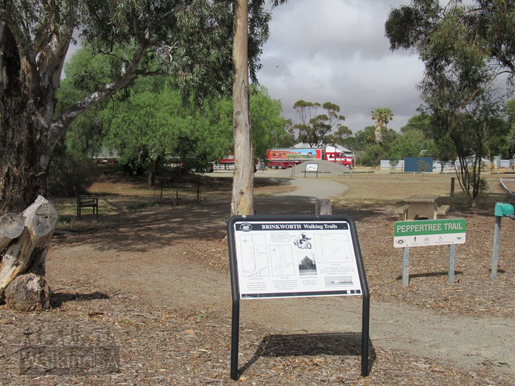The Pepper Tree Trail at Brinkworth starts at the historic Stockyard Reserve