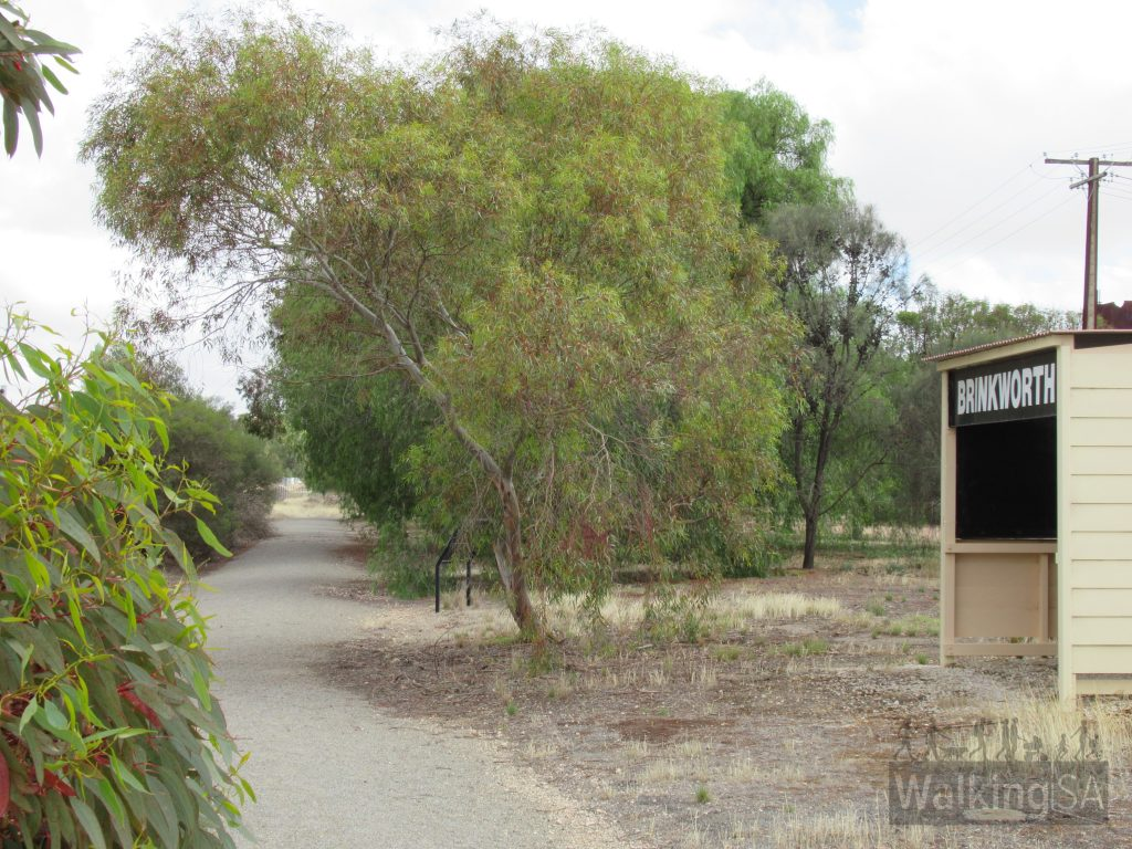 The Pepper Tree Trail passes the former railway station at Brinkworth