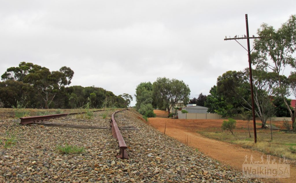 The preserved rails from the form railway line at Balaklava