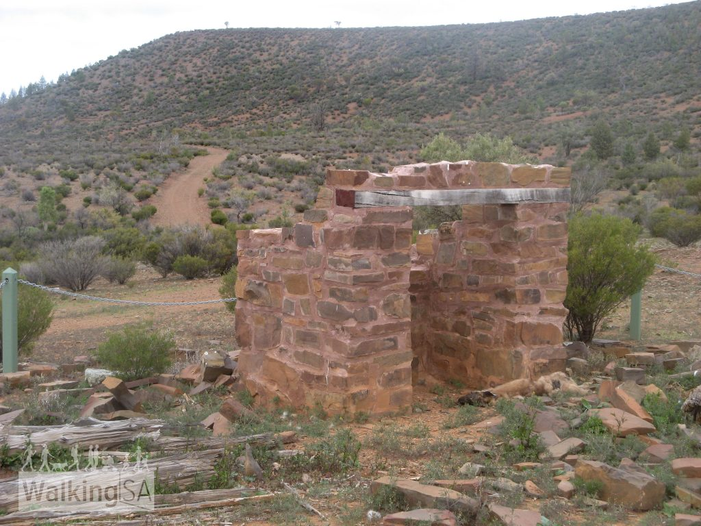 The ruins of Monela Hut