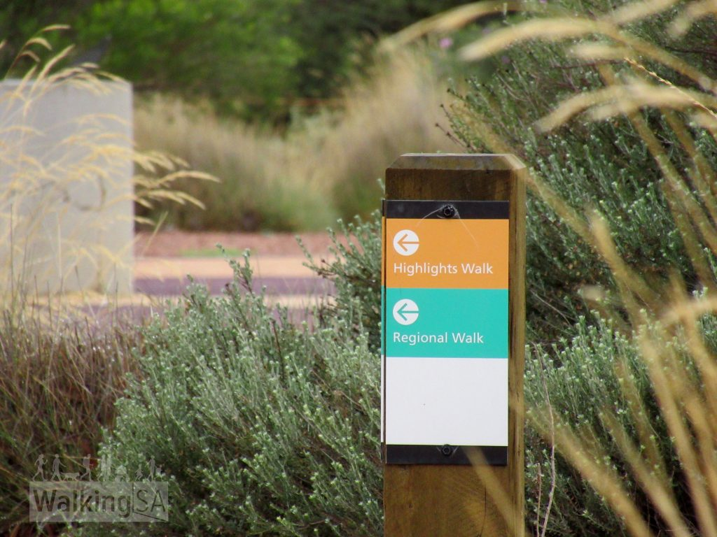 The three marked walking trails in the Australian Arid Lands Botanic Garden area easy to follow
