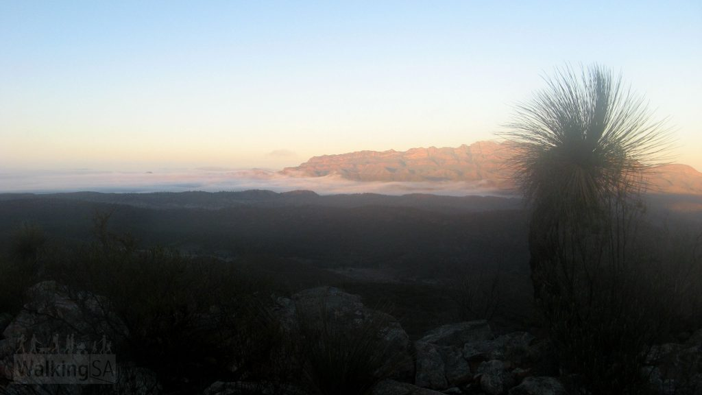 The view from Bridle Gap to the Elder Range