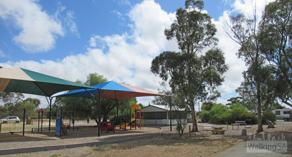 There is playground and toilets at the Stockyard Reserve