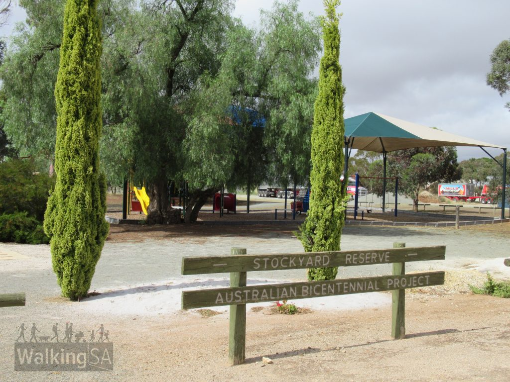 There is playground at the Stockyard Reserve