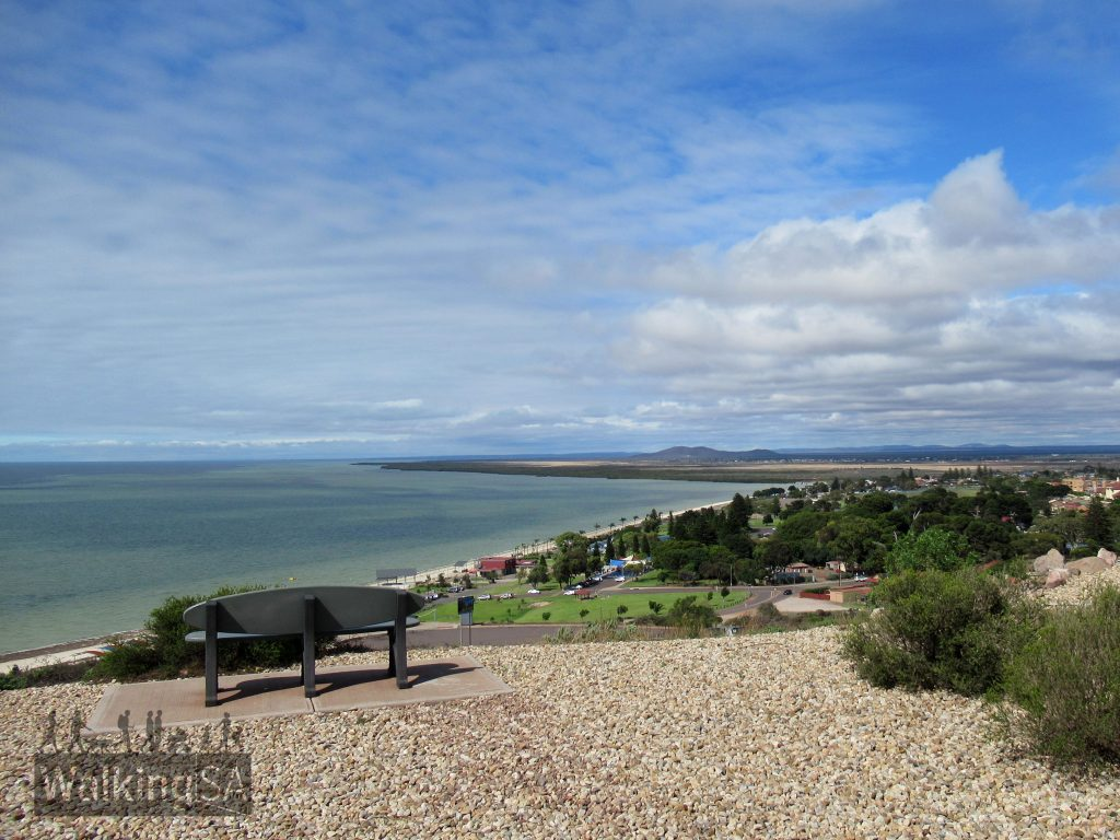 Views over Whyalla along the coast and of Spencer Gulf