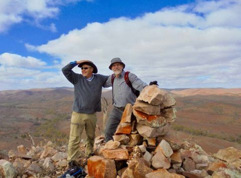 Andrew McLean and and Jim McLean enjoying the view from atop Tam O'Shanter Hill