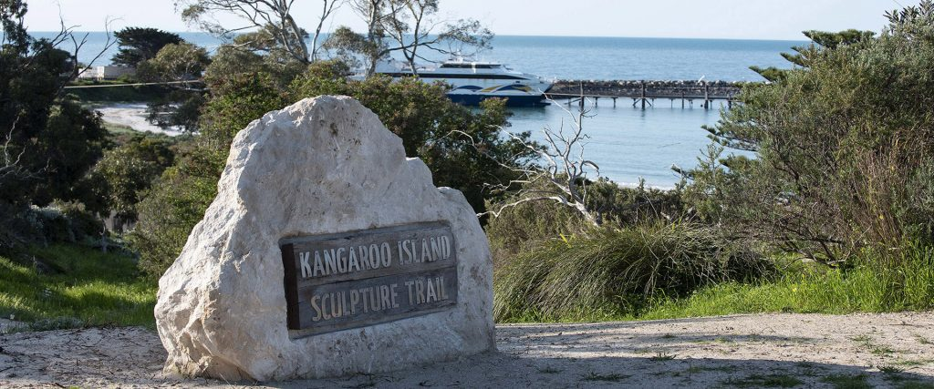 The Kangaroo Island Sculpture Trail is only a 5 minute walk from the ferry terminal at Penneshaw