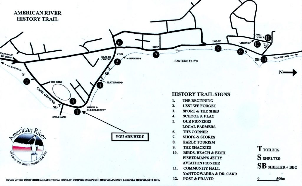 Map of the American River History Trail