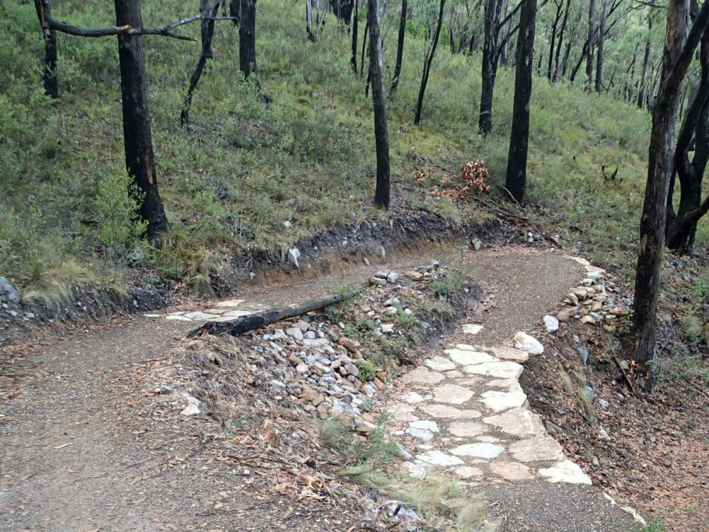 The Steub Trail has plenty of switchbacks, which means gentle gradients suitable for walking, prams, running and riding