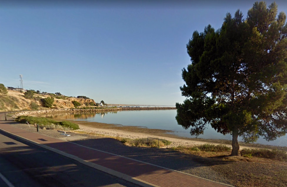 Stage 2 of the Stansbury Coastal Trail is a paved pathway along the foreshore