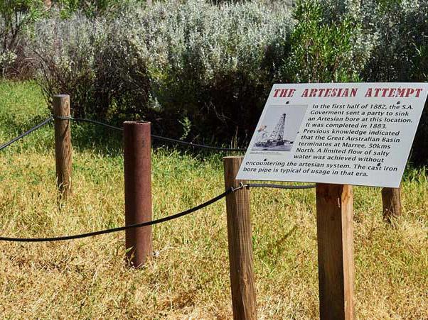 The Artesian Bore on the Farina Creek Walk