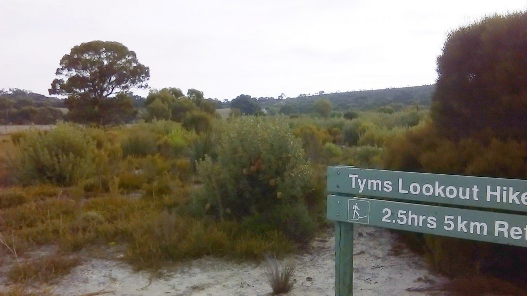 Trailhead of the Tyms Lookout Hike in Ngarkat Conservation Park