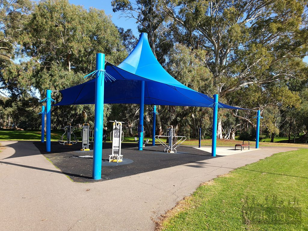 Outdoor fitness gym in Happy Home Reserve