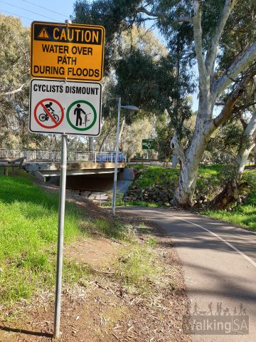 Underpasses enable safe crossing of the main roads, walking on the Little Para Linear Park (Lower) trails