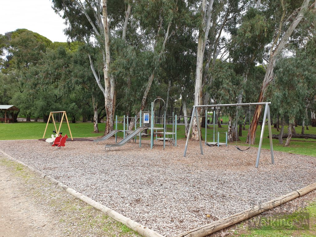Playground along the walk