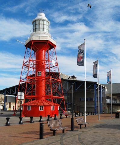 The Port Adelaide Lighthouse was first lit in 1869 at it's original location at the entrance to the Port River near Outer Harbor. In 1901, it was moved to the Neptune Islands, some 200km to the west or Port Adelaide, and relocated to the current location in 1986.
