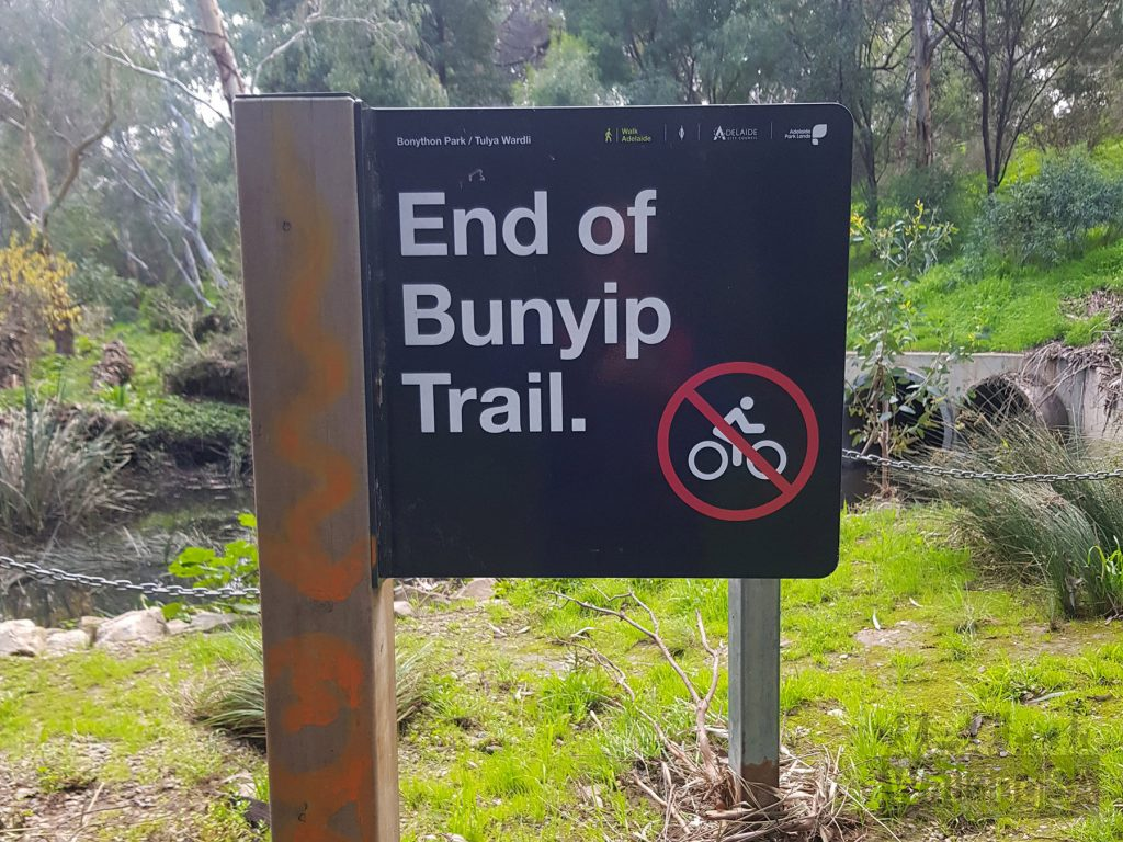 The end of the trail is clearly marked, to return to the start simply retrace your steps