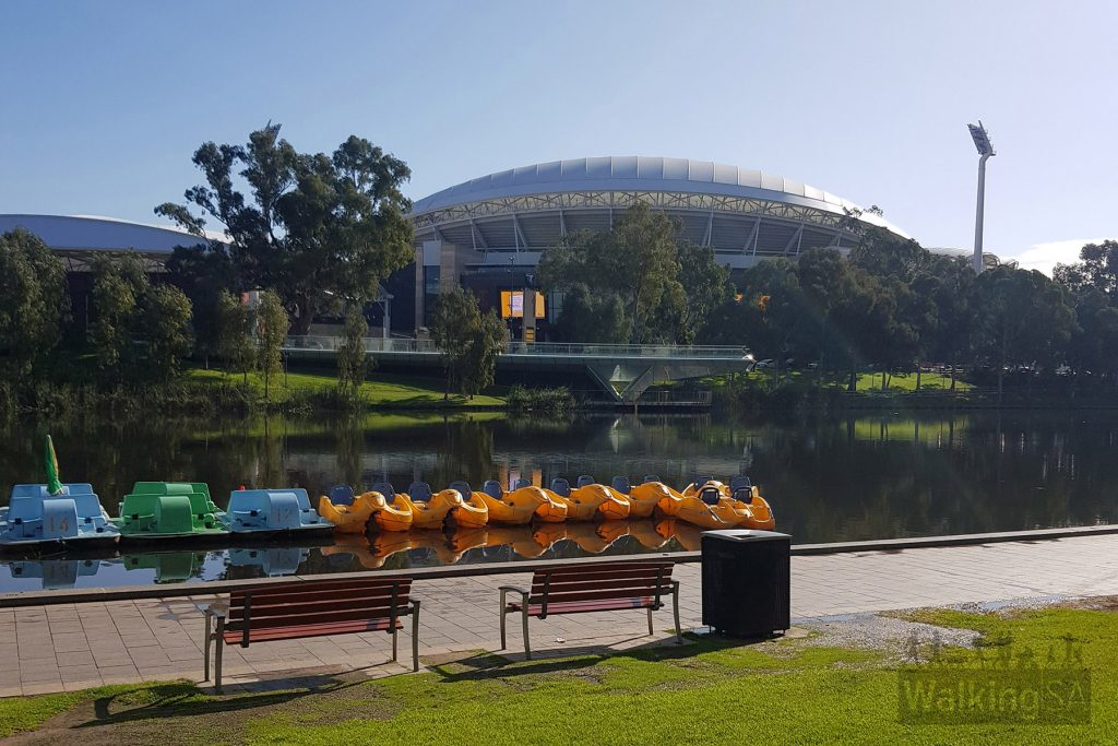 Site 5: Looking to Adelaide Oval / Torrens Lake