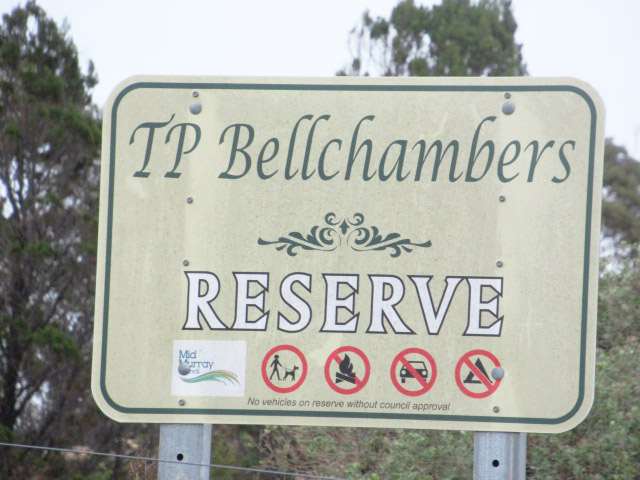 TP Bellchambers Reserve sign