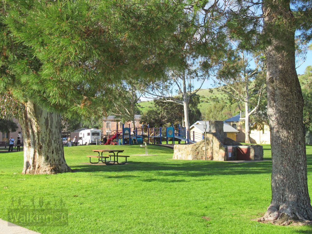 Market Square Reserve has a playground, open grass areas, bbqs and toilets