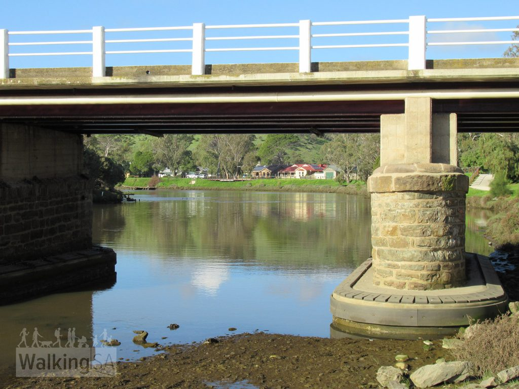 The stone bridge took South Road over the Onkaparinga River, and was the road through the town was the main road until it was bypassed in 1972