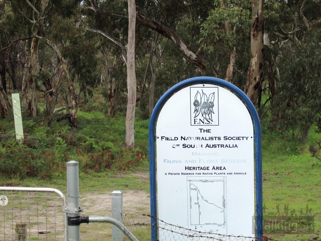 Entrance sign for the Manning Flora & Fauna Reserve on Kays Road