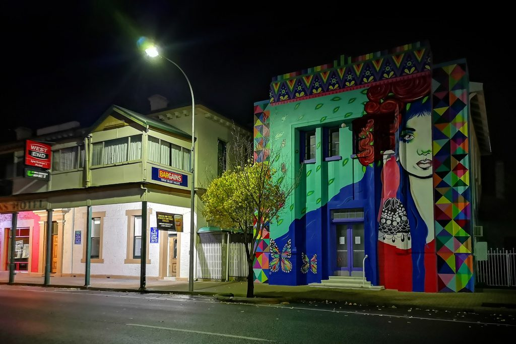 In 2018 Millicent's old Savings Bank building was painted with a mural by artist Mimby Jones Robinson