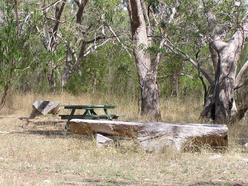 Picnic area at the trailhead of the Nature Trail in Penola Conservation Park