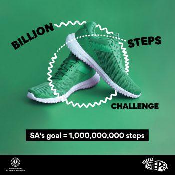 Help South Australia reach its goal of one billion steps!