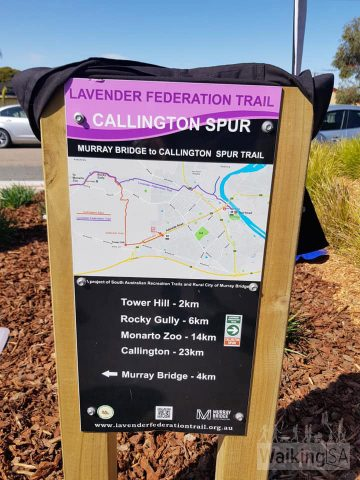 Trailhead sign at the White Hill Truck Drivers Memorial