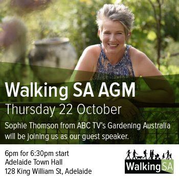 Walking SA AGM with guest speaker Sophie Thomson