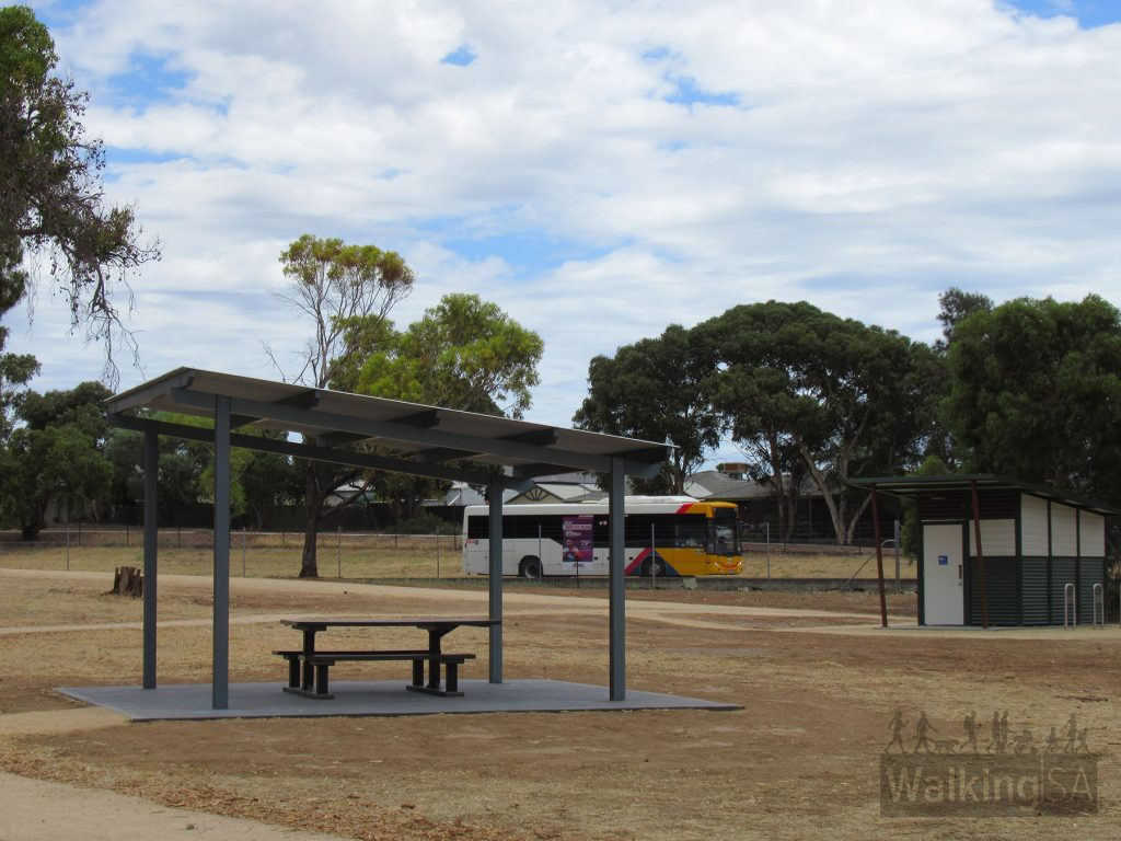 The park in the north western corner of the reservoir reserve has toilets, picnic shelters, seating, meandering path circuits, a water fountain and views over the reservoir
