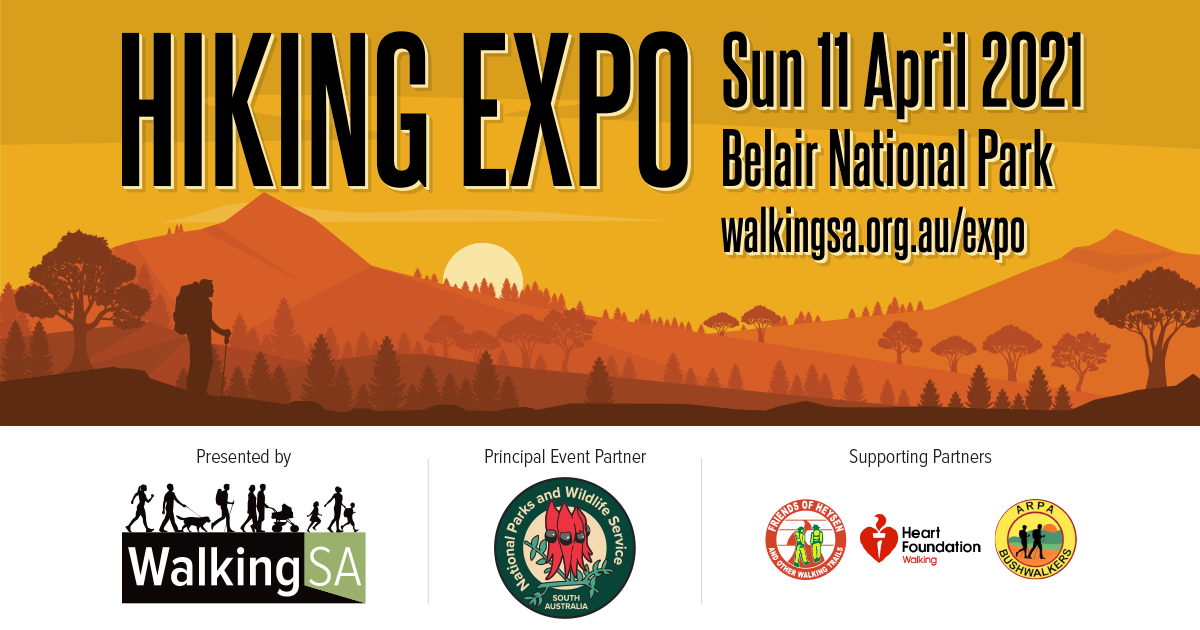 Hiking Expo in Belair National Park Sunday 11 April 2021