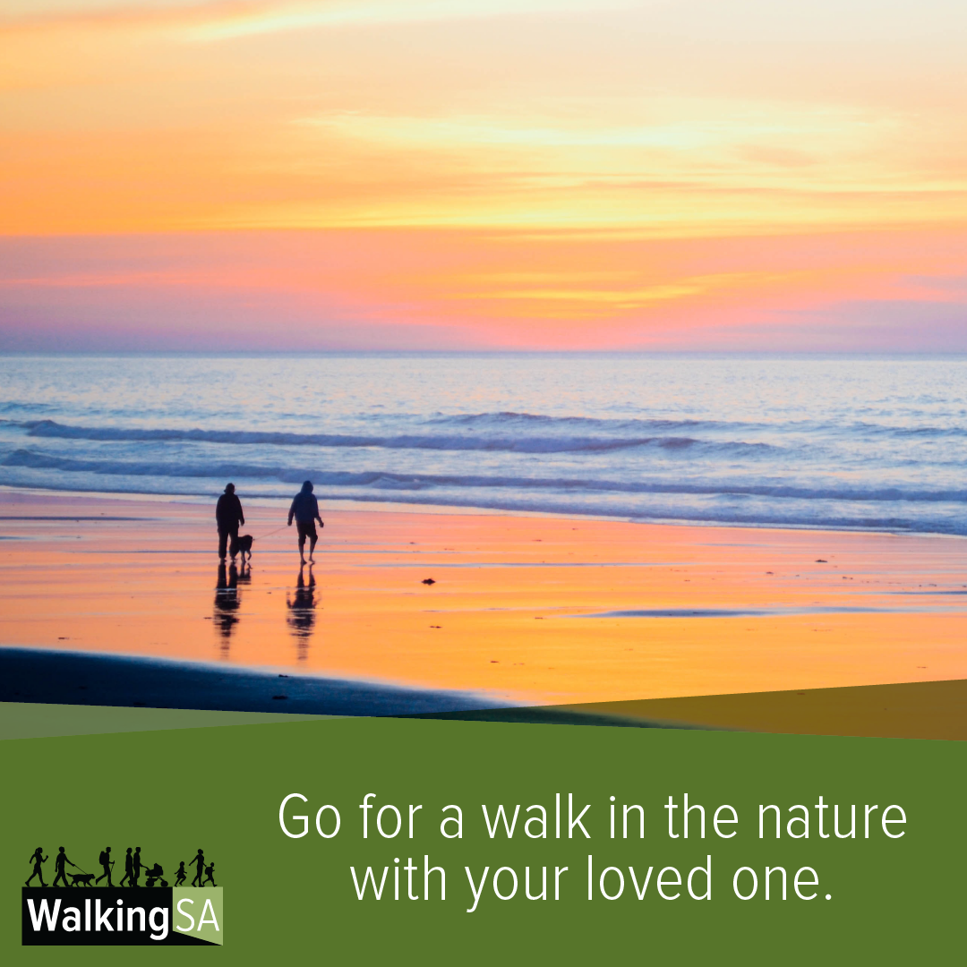 social media tile Square 1080px x 1080px: Go for a walk in the nature with your loved one