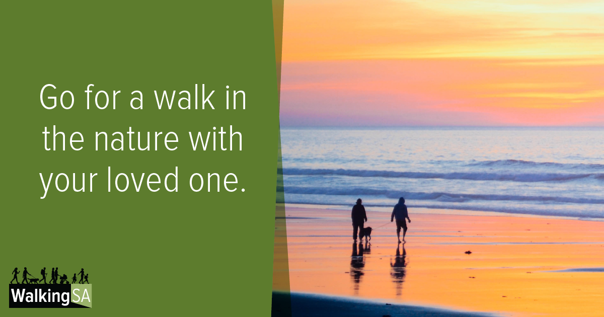 social media tile Rectangle 1200px x 630px: Go for a walk in the nature with your loved one