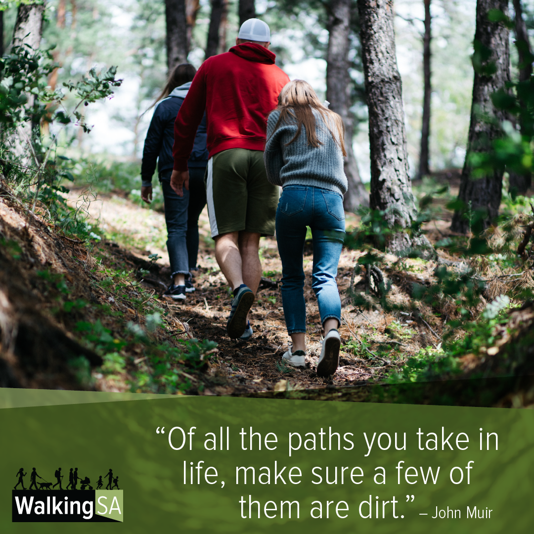 """social media tile Square 1080px x 1080px: """"Of all the paths you take in life, make sure a few of them are dirt."""""""