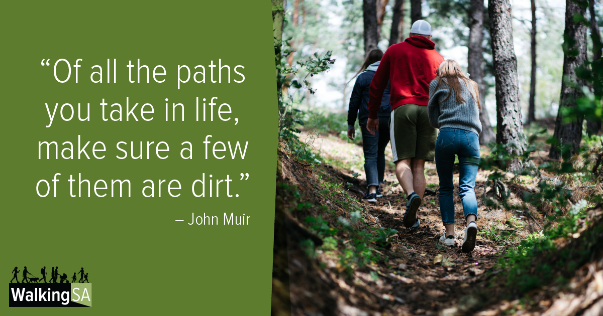 """social media tile Rectangle 1200px x 630px: """"Of all the paths you take in life, make sure a few of them are dirt."""""""