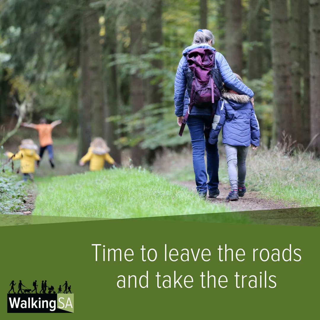 social media tile Square 1080px x 1080px: Time to leave the roads and take the trails