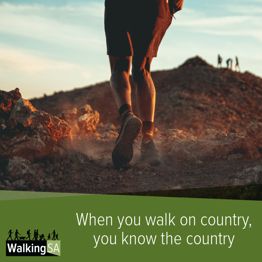 social media tile Square 1080px x 1080px: When you walk on country, you know the country