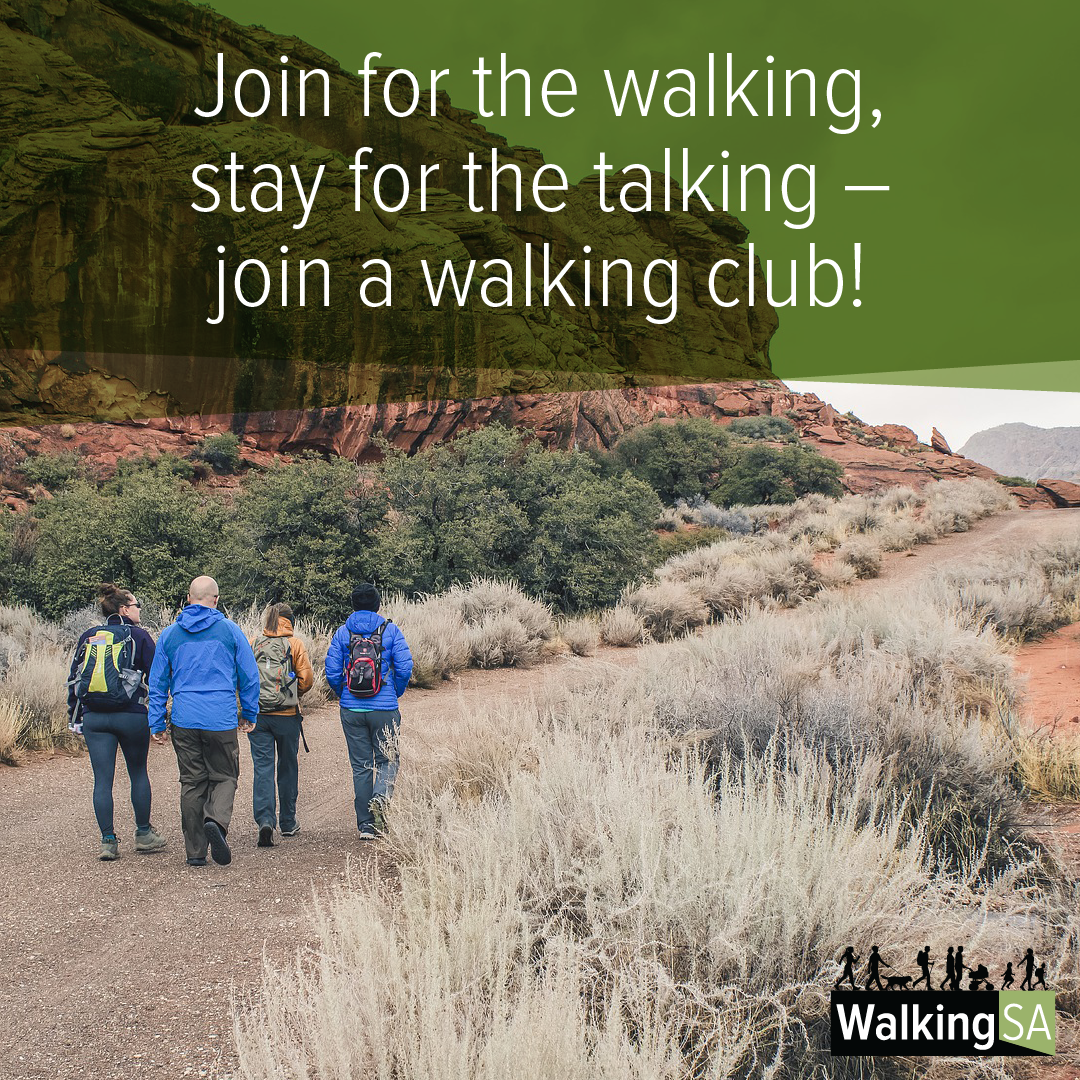 social media tile Square 1080px x 1080px: Join for the walking, stay for the talking – join a walking club!